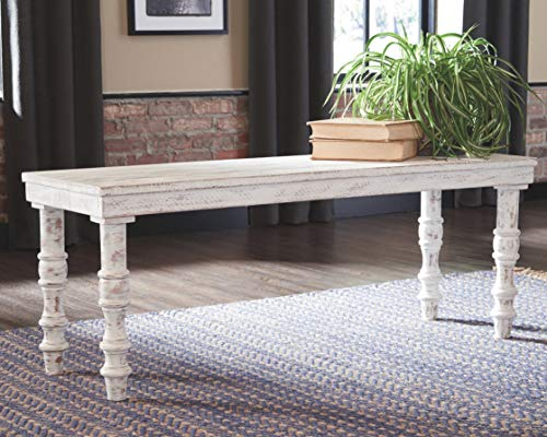 Signature Design by Ashley A3000159 Dannerville Accent Bench White by Signature Design by Ashley (Image #2)