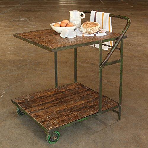 Ojai Iron Garden Trolley or Serving Cart (Serving Patio Iron Cart Wrought)