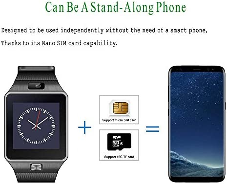 Pandaoo Smart Watch Mobile Phone DZ09 Unlocked Universal GSM, Bluetooth 4.0, Music Player, Camera, Calendar, Stopwatch Sync with Android Smartphones - ...