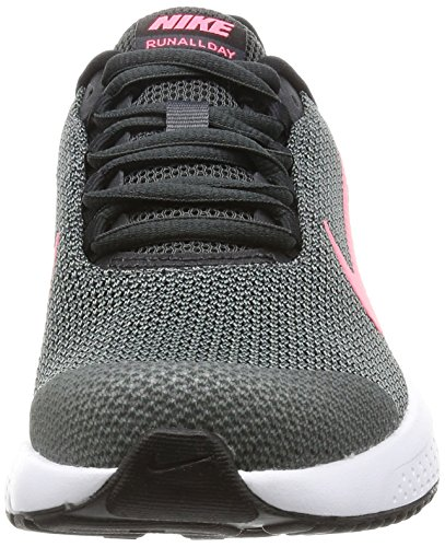 Nike Dames Runallday Sportschoen Antraciet / Hot Punch-black