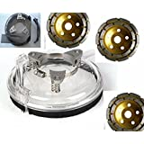 4inch or 5inch Universal Dust Shroud Kit Fits All Major Brands Angle Grinders Polisher 4 1/2 Inch / 115mm and 5 Inch / 125mm Diamond Grinding Cup Wheel for concrete granite travertine floor surface