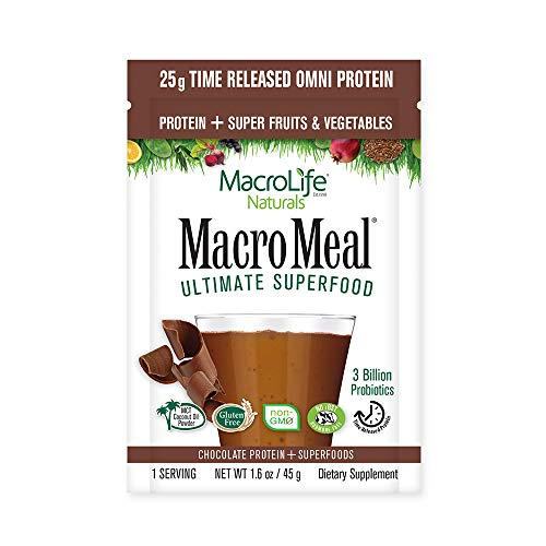 MacroLife Naturals MacroMeal Omni Protein - Chocolate - 10 Packets