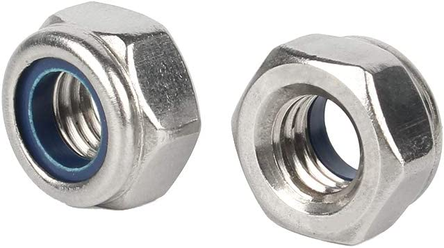 PERCTWARE 10Pcs M14 304 Stainless Steel Nylon Insert Hex Lock Nuts