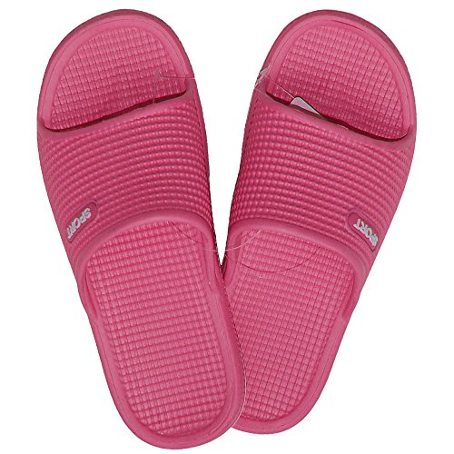 1 Paar Damen Badelatschen, Freizeitlatschen, Badepantoletten Größe: 41, pink, pi-41