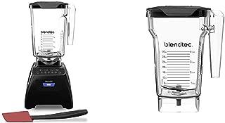 product image for Blendtec Classic 575 Blender - WildSide+ Jar (90 oz) and Spoonula Spatula BUNDLE - 4 Pre-programmed Cycles - 5-Speeds - Black & FourSide Jar (75 oz), Four Sided, Professional-Grade Blender Jar