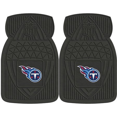 NFL 4-Piece Front #36572643 and Rear #19888909 Heavy-Duty Vinyl Car Mat Set, Tennessee Titans