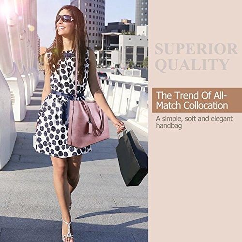 Shoulder Women Messenger Handbags Handle Bag Top Tote Bag Purse Pink Satchel pqfAwIOq
