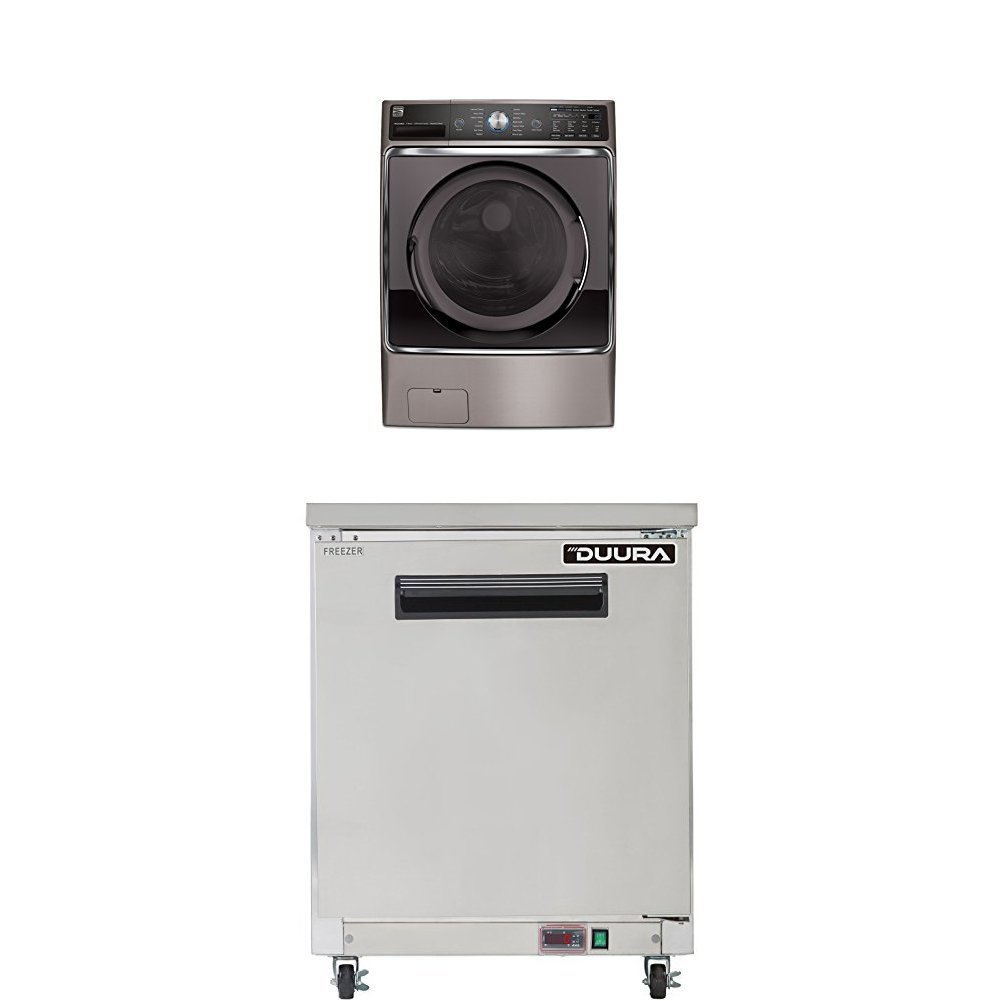 Kenmore Elite 5.2 cu. ft. Front Load Washer in Silver, includes delivery and hookup (Available in select cities only)  with Haulway Service