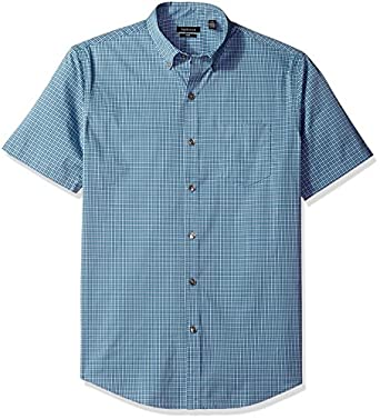 Van heusen men 39 s flex stretch short sleeve non iron shirt for Van heusen iron free shirts