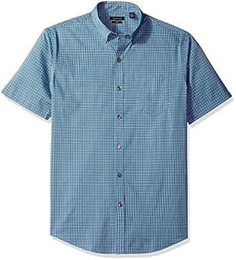 Van heusen men 39 s flex stretch short sleeve non iron shirt for Van heusen men s short sleeve dress shirts