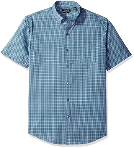 Van+Heusen+Men%27s+Flex+Stretch+Short+Sleeve+Non+Iron+Shirt%2C+Aqua+Inland%2C+2X-Large