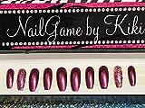 Razzed Up full coverage nails press on nails Hand Designed Press-on Glue-on Nails Custom Nails False Nails Fake Nails Coffin Nails Handmade Nail Set