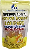 Pacific Resources Children's Lemon and Manuka Honey Lollipops, 12 Pack