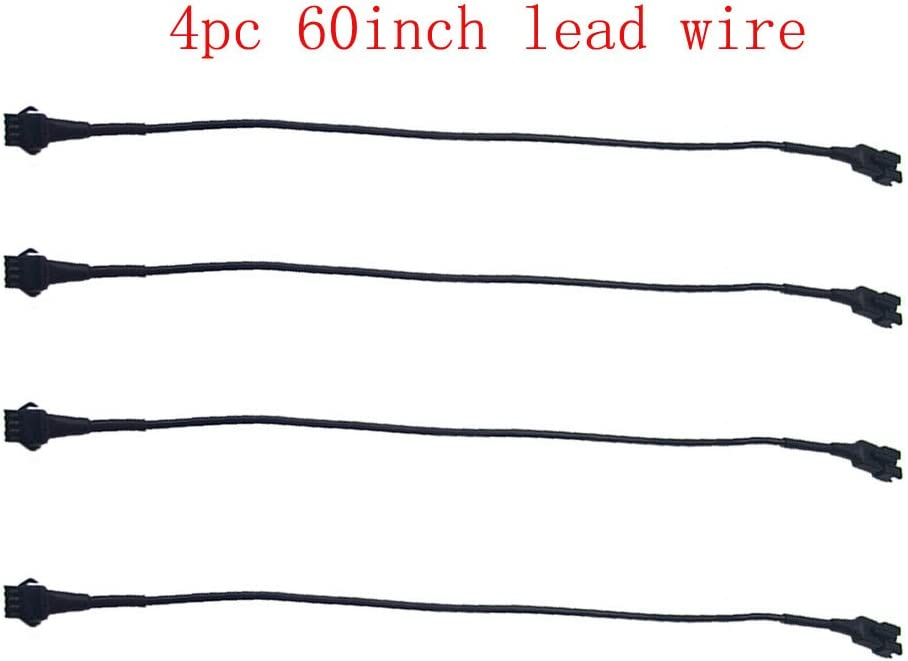 Extension Cable Wire Cord Set for Car or Motorcycle LED Accent Light Multi-color Neon Lighting Strip kit 40inch 12Pcs