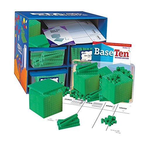 (hand2mind Green Foam Base Ten Blocks, Class Set )