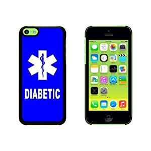 Diabetic - Medical Emergency - Star of Life Snap On Hard Protective For SamSung Galaxy S5 Mini Phone Case Cover - Black