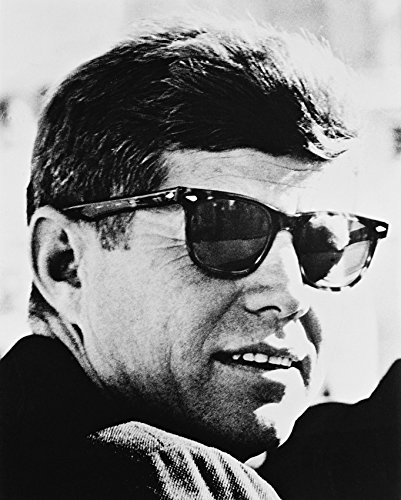 John F.Kennedy B&W 16x20 Canvas Giclee In - John F Sunglasses Kennedy