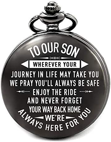 Son Gifts From Mom And Dad For Wedding Son Birthday Gifts Ideas For Son For Teen Boys Engraved Pocket Watch For Son Back Home Amazon Com Au Fashion