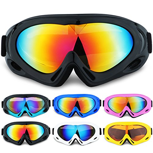 Motocycle Goggles Protective Combat Goggles Military Sunglasses Outdoor Tactical Goggles,Adjustable Strap for Adults' Cycling Motocross to Prevent Particulates in Colorful - Oakley Sunglasses Black Military