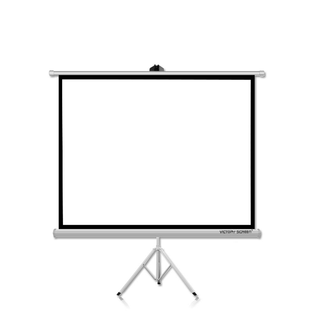 プロジェクタースクリーン 72/84インチ(4:3) 携帯式 吊り下げ 自立型タイプ ホームシアター プレゼン 投影 会議 教室 (72インチ(4:3)) 72インチ(4:3)  B0784BP3LY