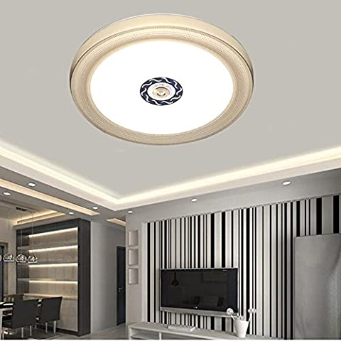VIPMOON 24W LED Ceiling Lights - White, 16-inch Diamond Brown Style Flush Mount Lighting, 180W Incandescent (50W Fluorescent) Bulb Equivalent, Ceiling Down Light - Diamond Style Light