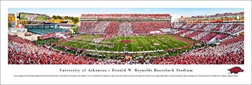 Arkansas Razorback Football - Stripe - Blakeway Panoramas Unframed College Sports (Arkansas Razorbacks Football Stadium)