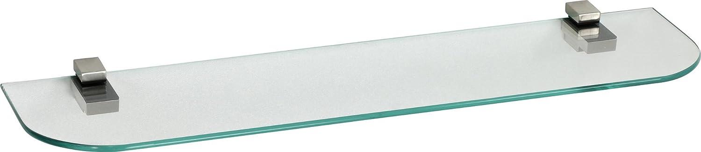 IB-Style - é tagè re murale en verre | 44 variations | 400 x 150 x 6 mm clair + Clips Kubi acier inoxydable