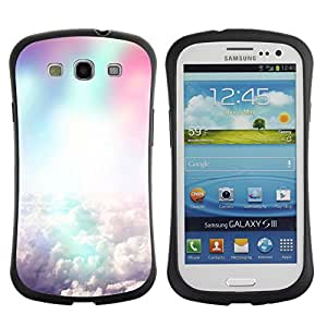 Pulsar iFace Series Tpu silicona Carcasa Funda Case para SAMSUNG Galaxy S3 III / i9300 / i747 , Colorful clouds