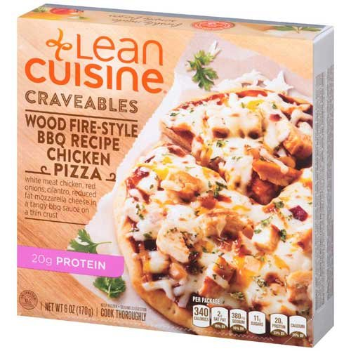 Lean Cuisine Barbecue Recipe Chicken Pizza, 6 Ounce - 8 per case.