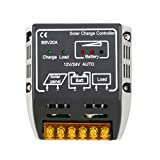Solar Charge Controller, LESHP Solar Panel 20A 12V 24V Battery Regulator Safe Protection
