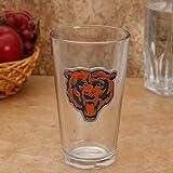 Chicago Bears Glass Pint w/ Metal Logo