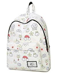 Leaper Cute Kids Preschool Backpack for Girls Lightweight Book Small Bag Waterproof Daypack Beige
