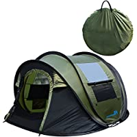 PeakTop Instant Tent 4 Person Automatic Pop up Camping...