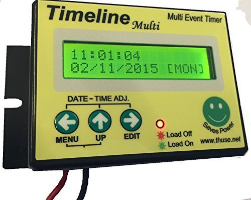 Timeline Water Pump Electronic Timer -Maximum 30 On-Off Cycles per Day (Black)