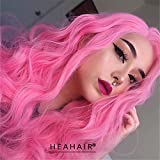 Heahair Handmade Women Synthetic Lace Front Wigs Cheap Heat Resistant Natural Long Wavy Wigs Hs0012