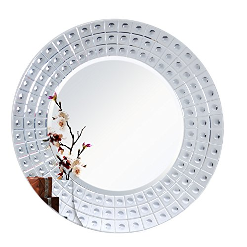 "Diameter 45"" MIRROR TREND Large Mirror Venetian Design Wall Hanging Decorative Mirrors with Etching Carved fits in Bedroom and Living room"