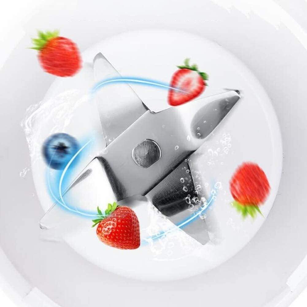 Cucina XMJ Viaggi Juicer semplicità Portatile Blender di carico Mobile di Sicurezza Frullatore Lame Smoothie Maker con 4 Pezzi in Acciaio Inox for la casa (Color : White) White