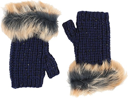 UGG Women's Crochet Gloves w/ Lurex/Sequins/Toscana Trim Indigo Multi One Size