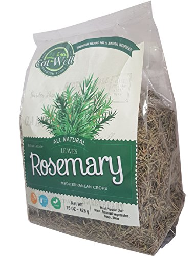 Rosemary Leaves |15 oz - Bag| Whole Dried Rosemary Spice (Rosmarinus officinalis) | NATURAL | Eat Well Premium Foods