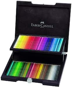 Faber-Castell 117572 - Estuche de madera con 72 ecolápices acuarelables, multicolor