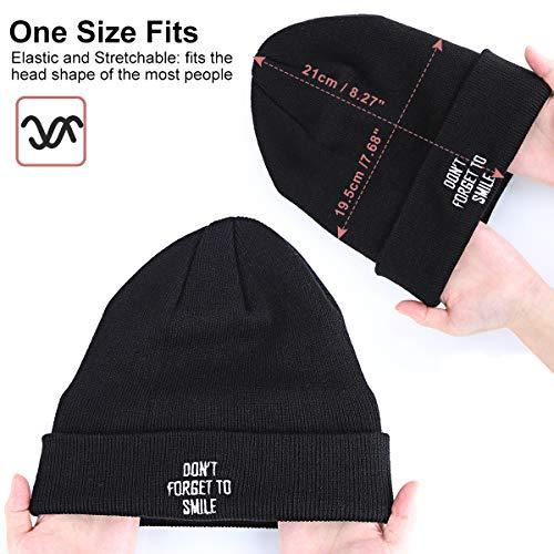24eb0cde589 Winter Beanie Hat for Men Women - Unisex Cuffed Knit Cuffed Plain Skull  Toboggan Cap