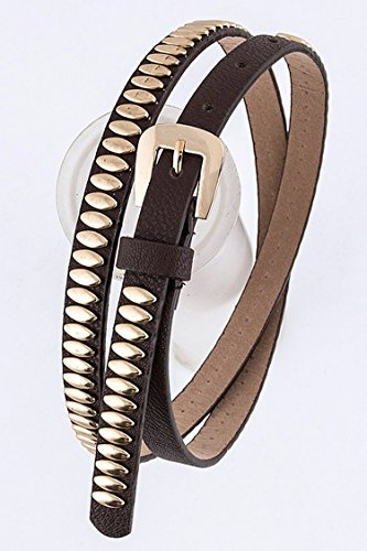 Trendy Fashion Jewelry Metallic Studded Belt By Fashion Destination | - Wholesale Trendy Fashion