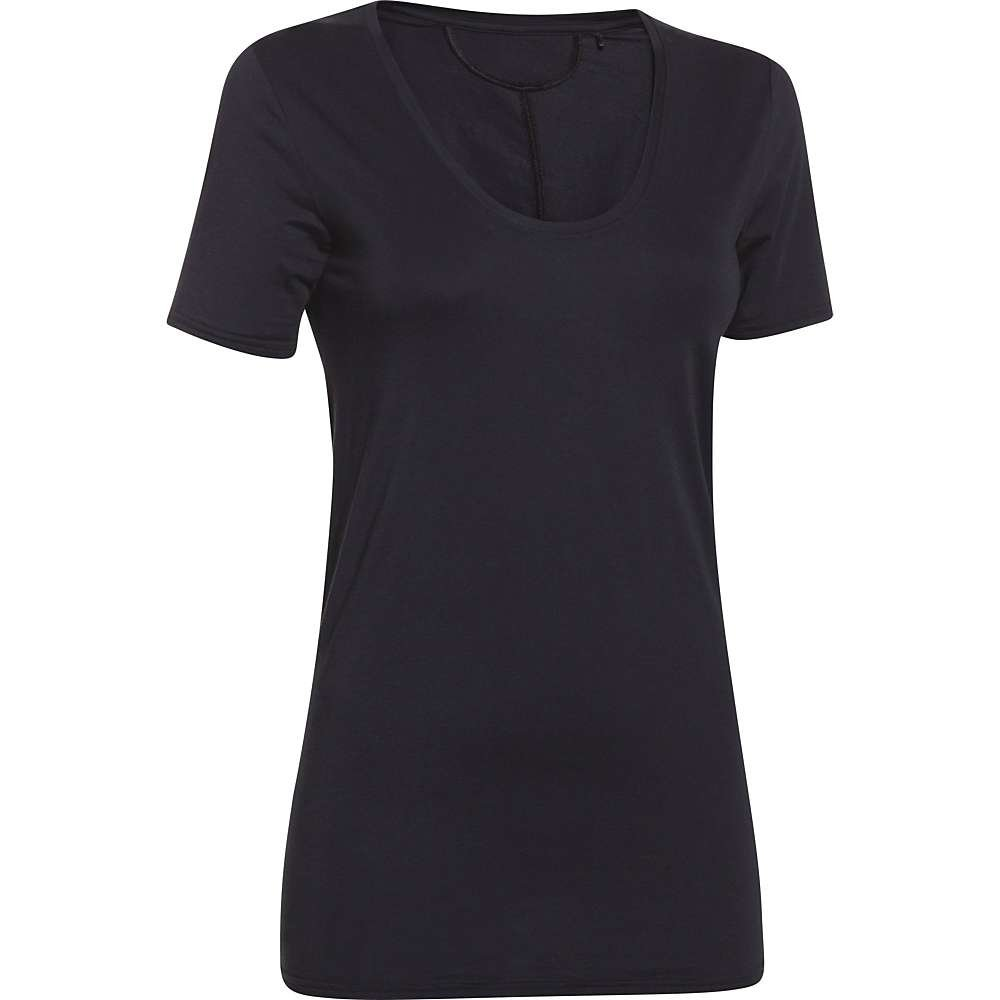Under Armour Womens Ua Long and Lean V-Neck T-Shirt in Black