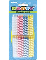 Striped Birthday Candles, Assorted 72ct