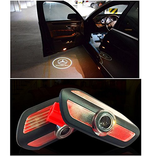 Cszlove LED Projection Logo Ghost Shadow Car Door Welcome Light DIY Step Light Symbol Sign Badge for Mercedes Benz 2014-2016 S Class - 1 Pair (Best Class For Ghosts)