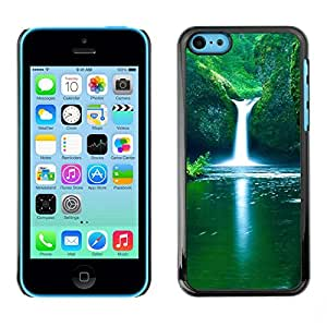 PC/Aluminum Funda Carcasa protectora para Apple Iphone 5C Nature Falls Beautiful Waterfalls / JUSTGO PHONE PROTECTOR