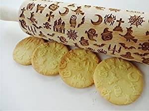 Rolling pin with HALLOWEEN pattern
