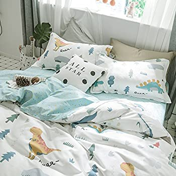 Jwellking LIL'ANIMALS Bedding Sets for Kids,3 Piece Full Size Duvet Cover Set,With hide Zipper,1 Duvet Cover+2 Pillow Shams