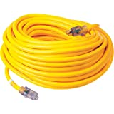 Prime Wire & Cable LT511935 100-Foot 10/3 SJTOW Bulldog Tough Ultra Heavy Duty Extension Cord with Prime Light Indicator Light, Yellow