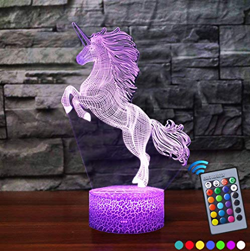 Carryfly Night Light 16 Colors Change with Remote Birthday Gifts for Baby Amazing Light (ZL-Unicorn)